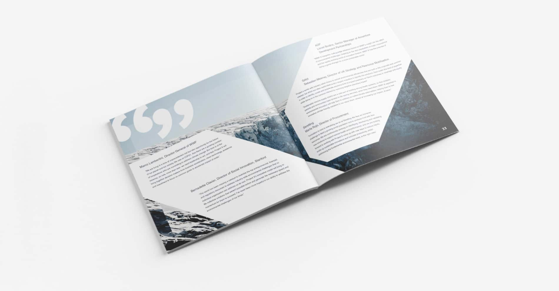 Our task was to create an 64 page brochure by focusing on WWFX's vital message